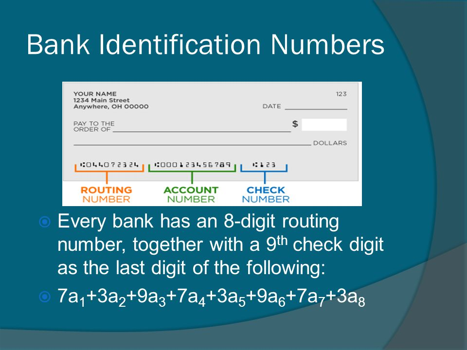 analyzing numerical data validating identification numbers credit card numbers answers