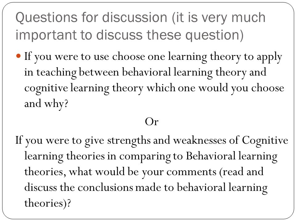 Questions for discussion (it is very much important to discuss these question)