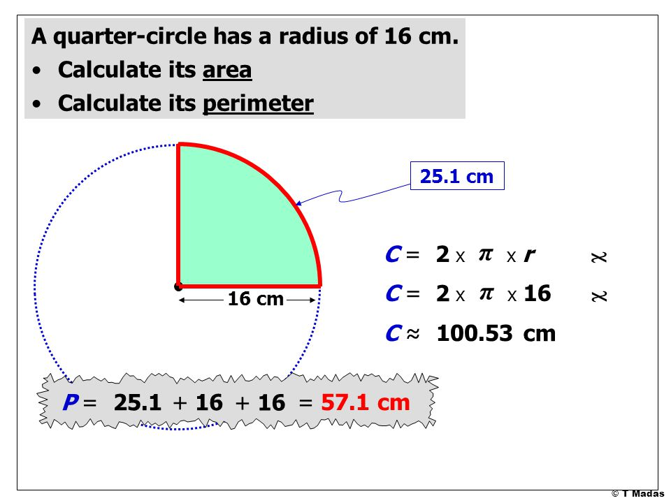 how to find radius of inner circle