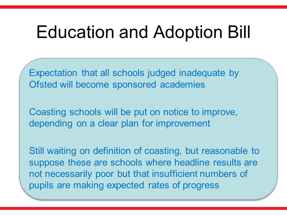 Education and Adoption Bill