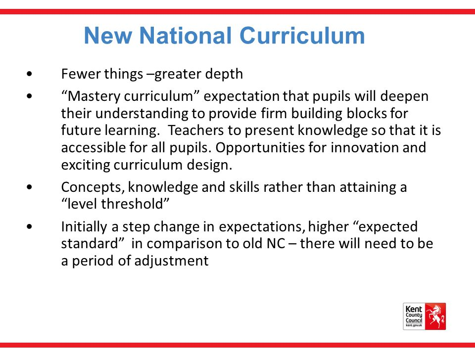New National Curriculum