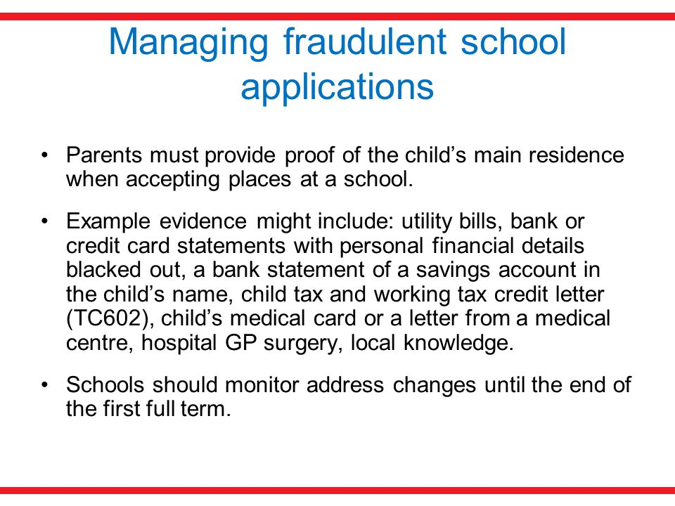 Managing fraudulent school applications