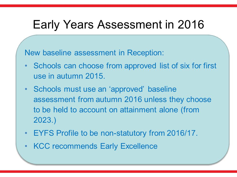Early Years Assessment in 2016