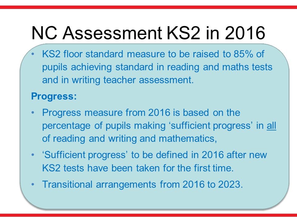 NC Assessment KS2 in 2016