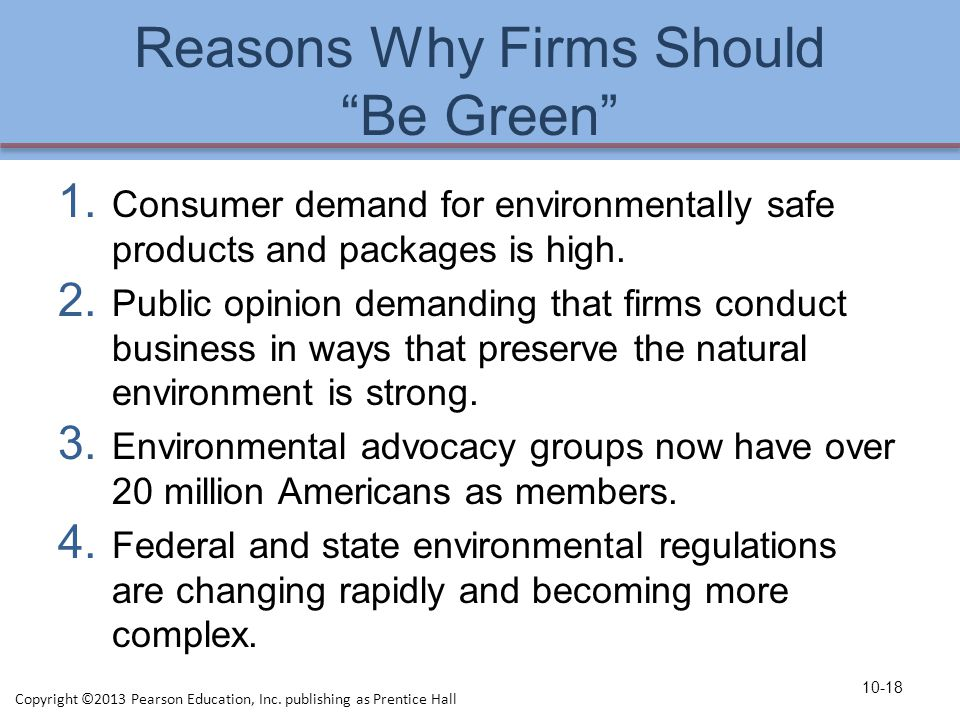 Reasons Why Firms Should Be Green