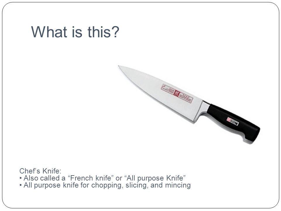 What is this Chef's Knife: