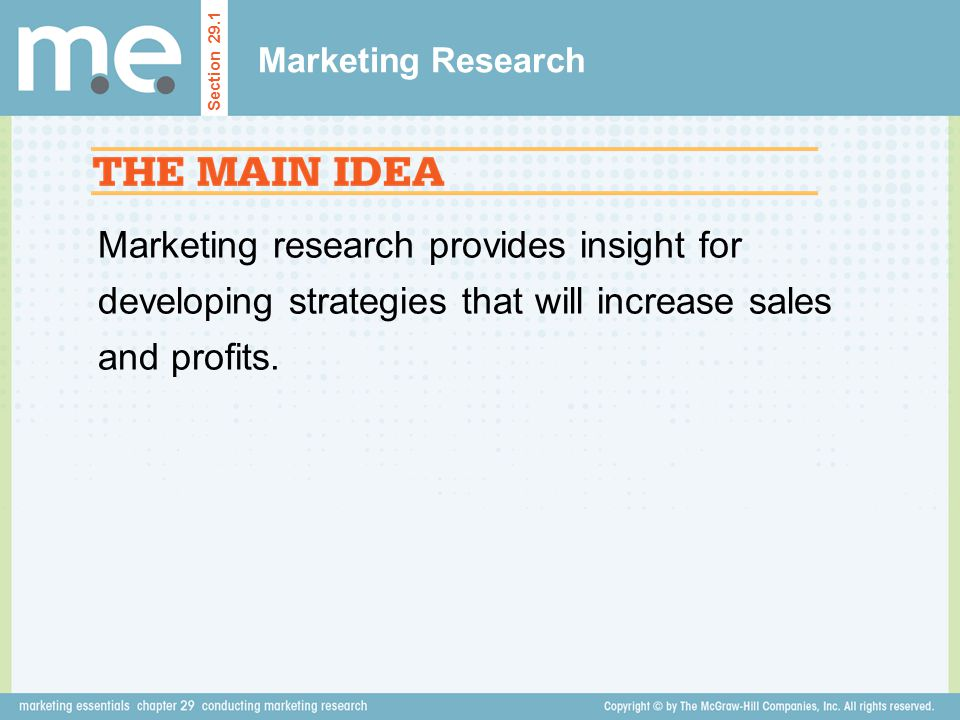 Marketing Research Section 29.1.