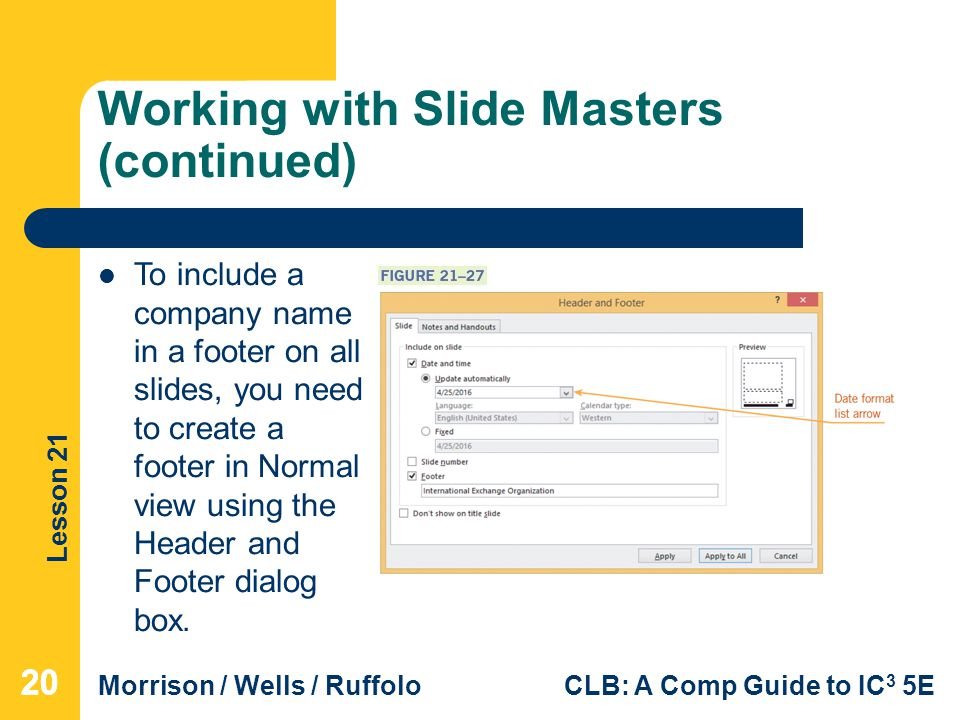 Working with Slide Masters (continued)