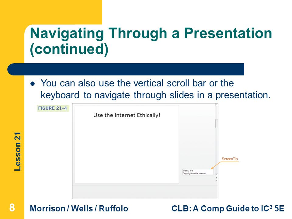 Navigating Through a Presentation (continued)
