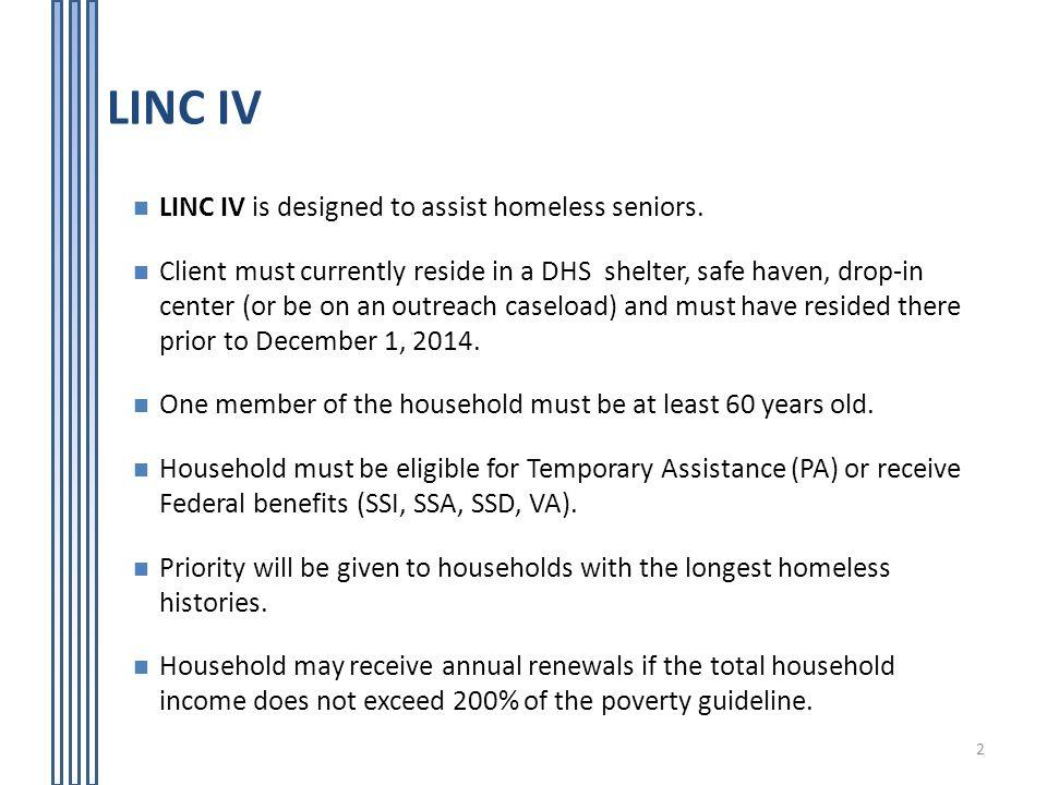 Living in Communities (LINC) Rental Assistance Program - ppt