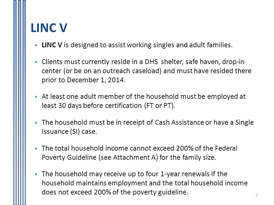 Living In Communities Linc Rental Assistance Program Ppt Video