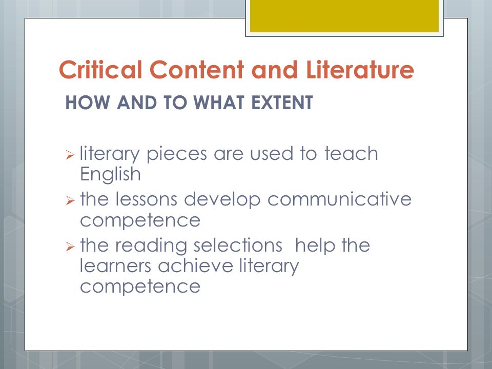 literary competence definition