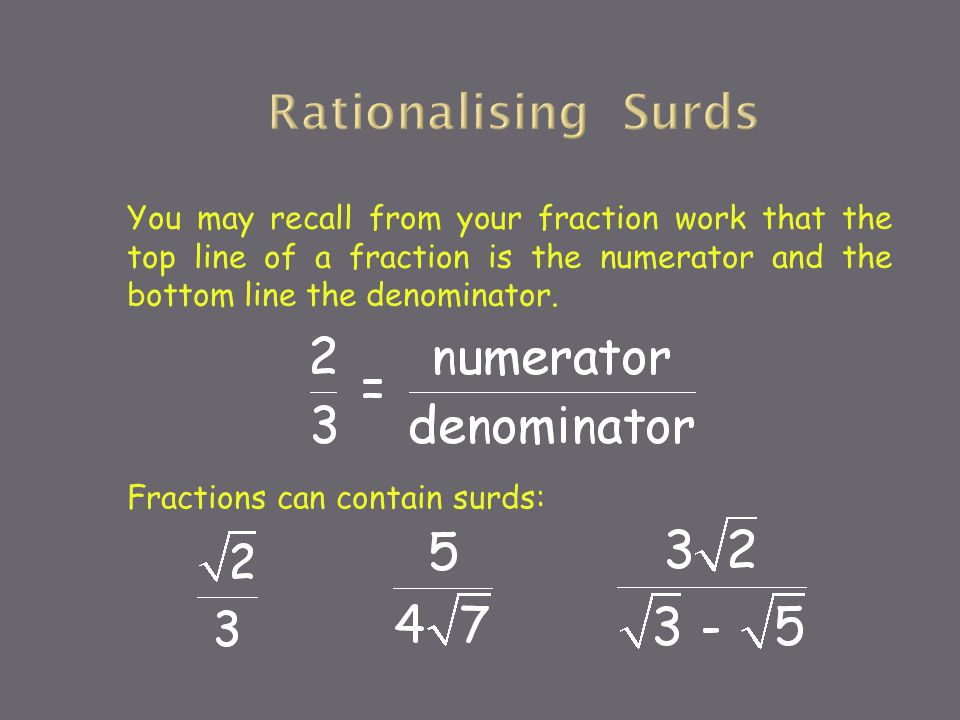 How To Add Surd Fractions