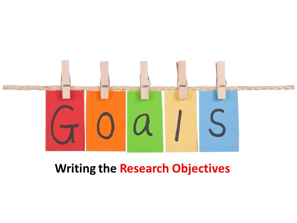 Writing the Research Objectives