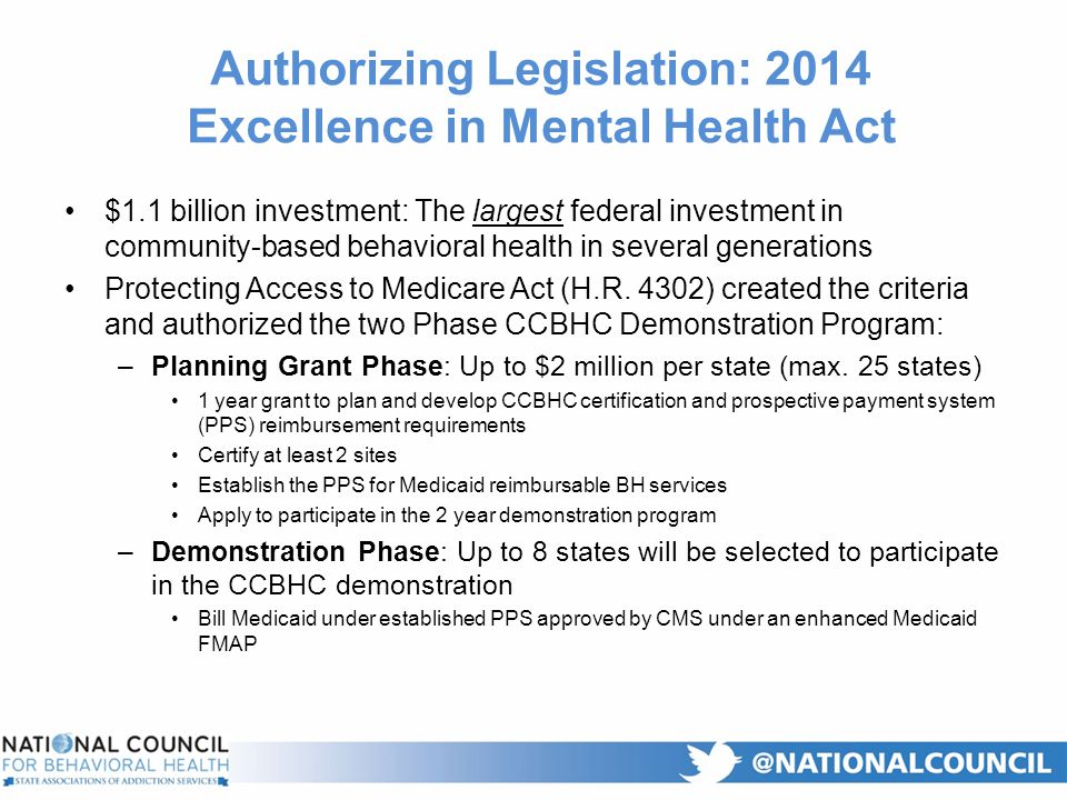 Certified Community Behavioral Health Clinics - ppt download