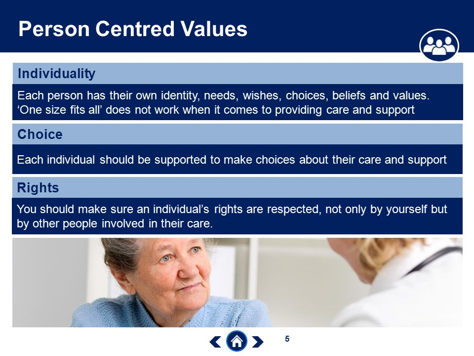 Person Centred Values Individuality Choice Rights
