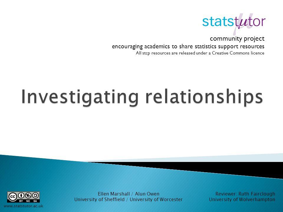statistics correlation project ideas