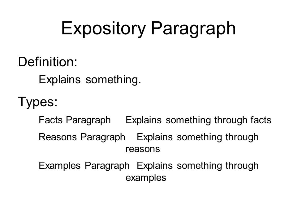 the definition of expository