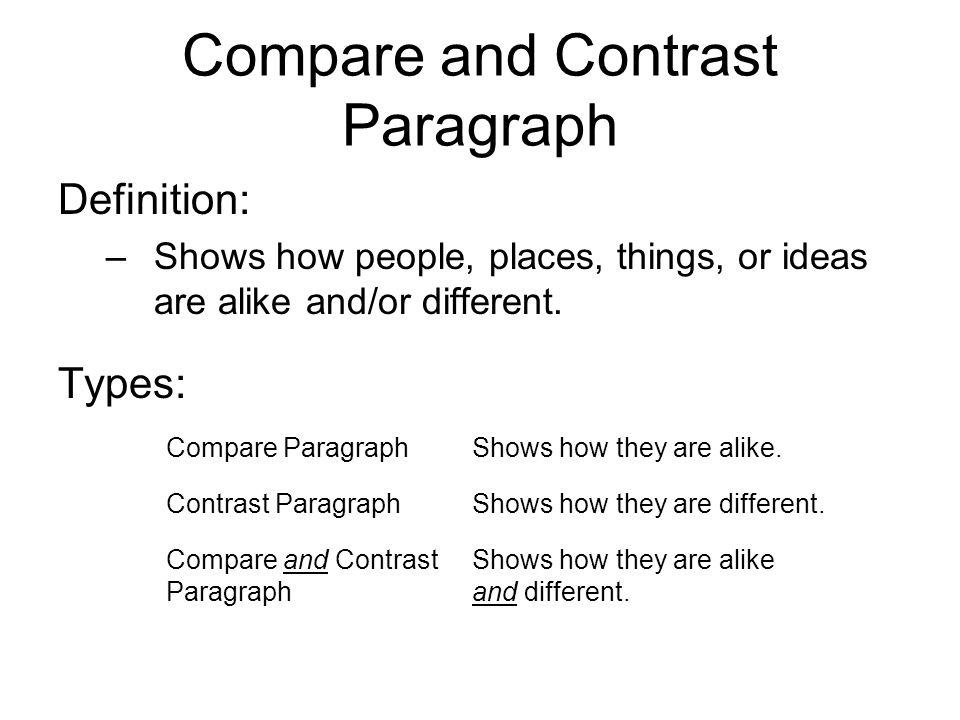 contrast comparison definition