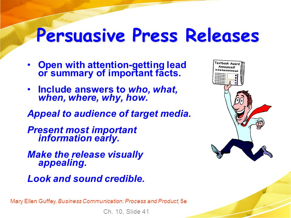 Persuasive Press Releases