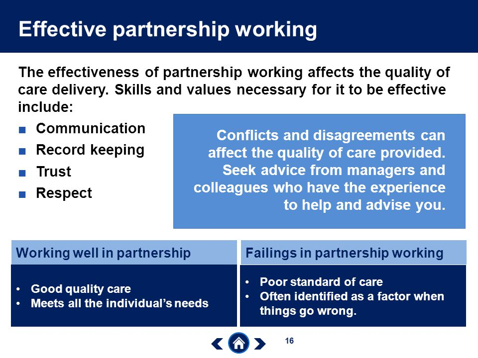 Effective partnership working
