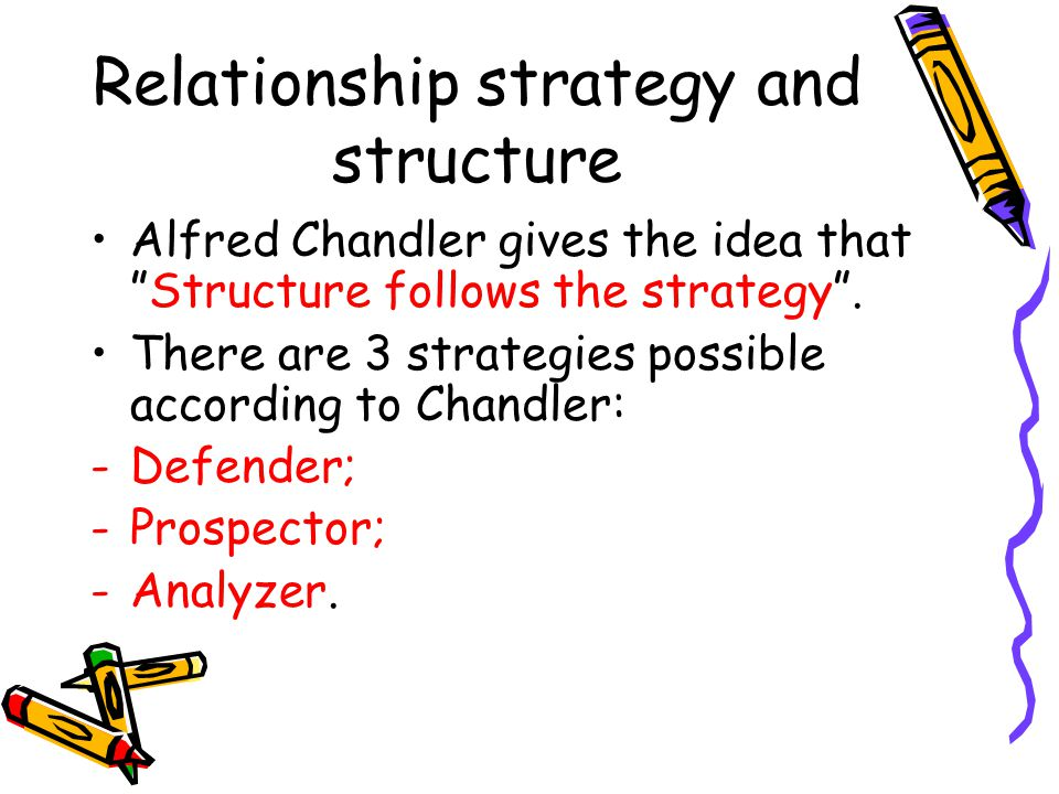 Relationship strategy and structure
