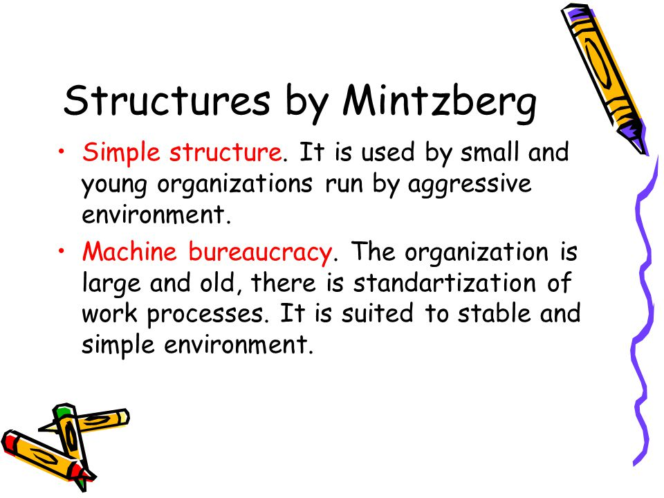 Structures by Mintzberg
