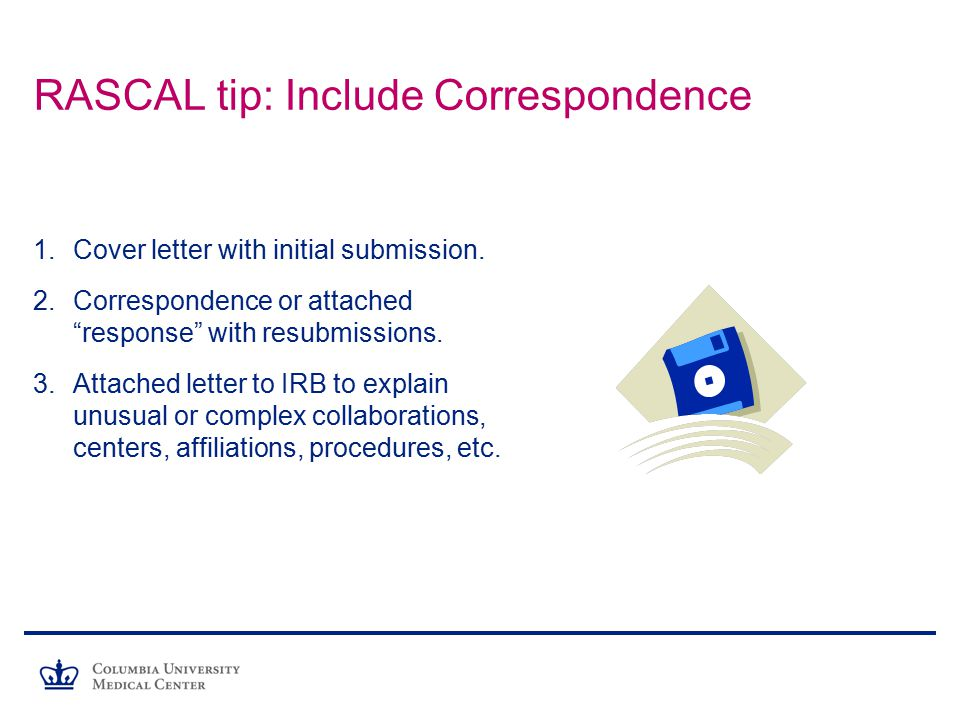 15 RASCAL Tip: Include Correspondence Cover Letter ...