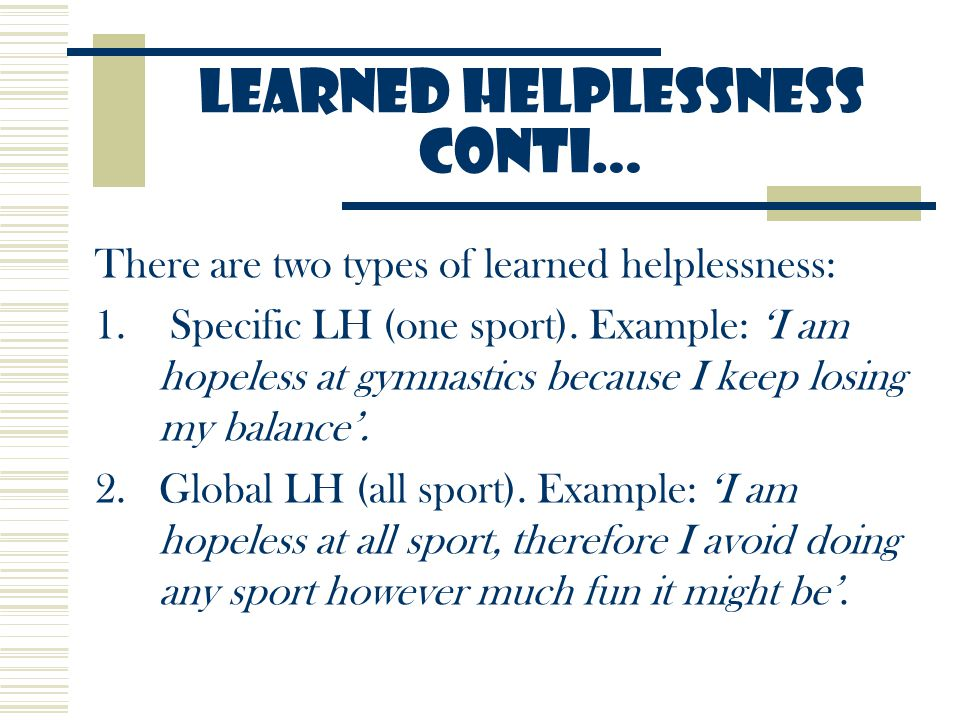 Anxiety Self Efficacy Learned Helplessness Ppt Video Online Download