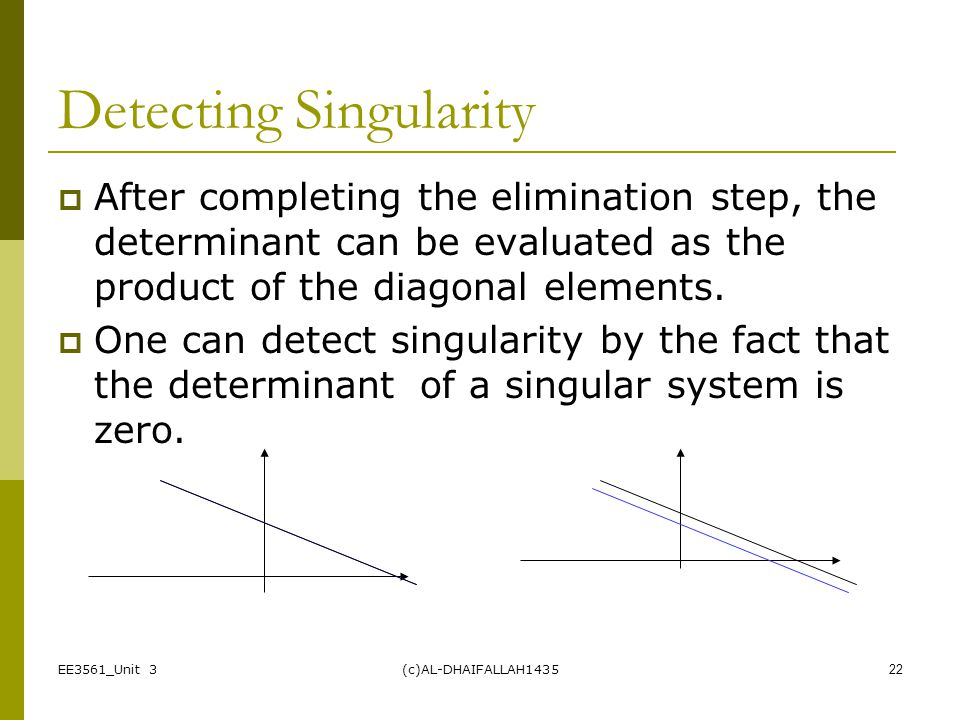 Detecting Singularity