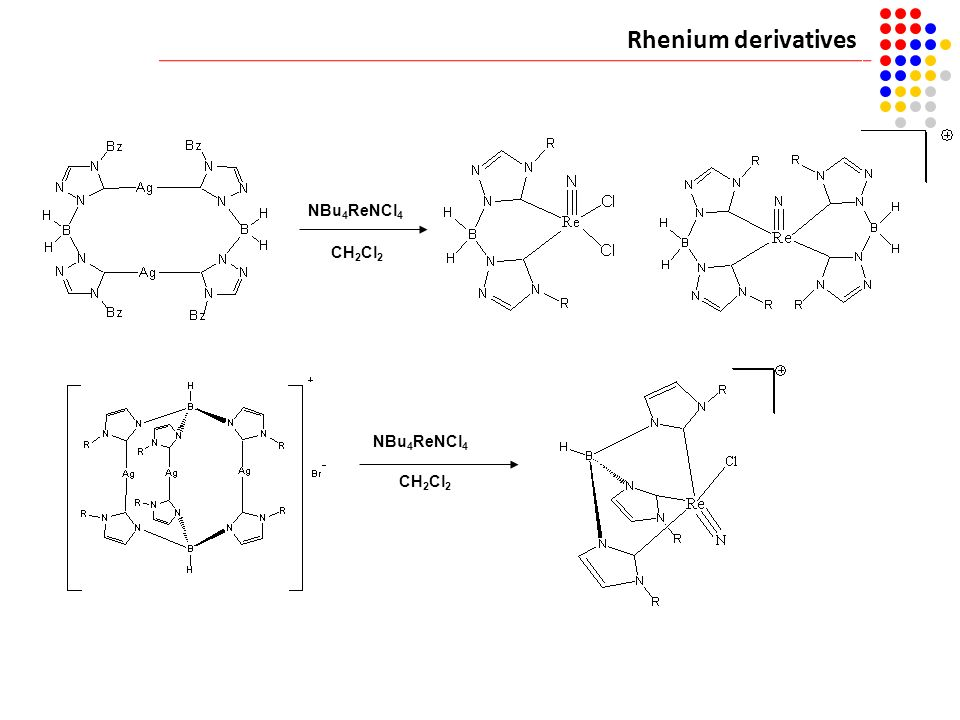 Rhenium derivatives [Ru(p-cymene)Cl2]2 NBu4ReNCl4 CH2Cl2 NBu4ReNCl4