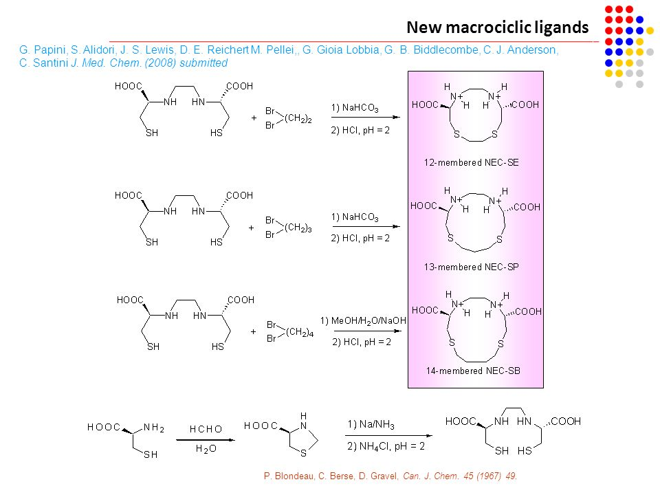 New macrociclic ligands