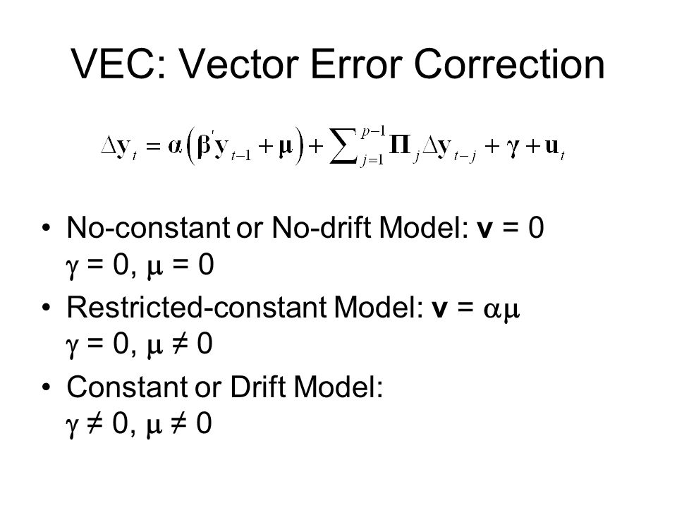 VAR and VEC Using Stata  - ppt video online download