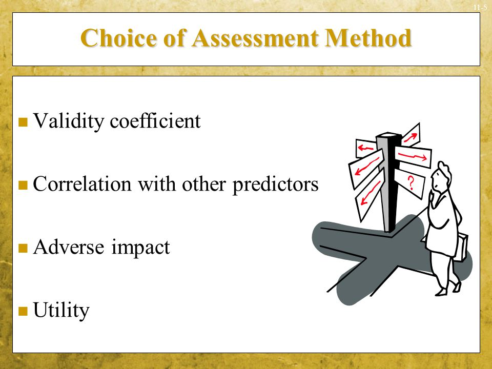 Choice of Assessment Method