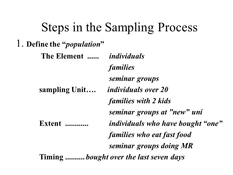steps in sampling design pdf