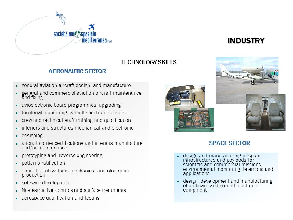INDUSTRY TECHNOLOGY SKILLS AERONAUTIC SECTOR SPACE SECTOR