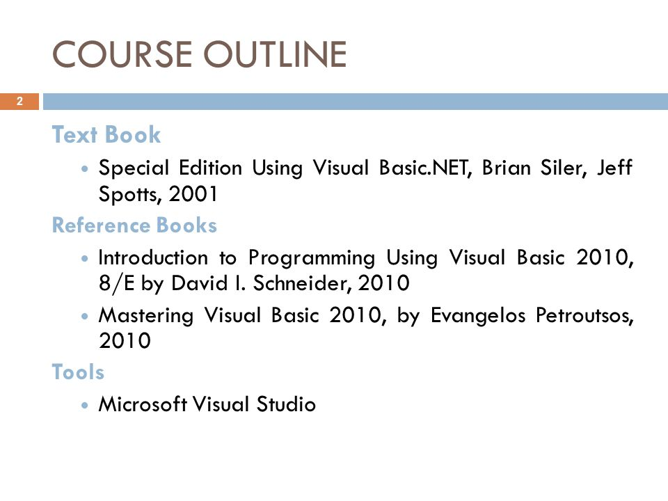 Programming in visual basic  net - ppt video online download