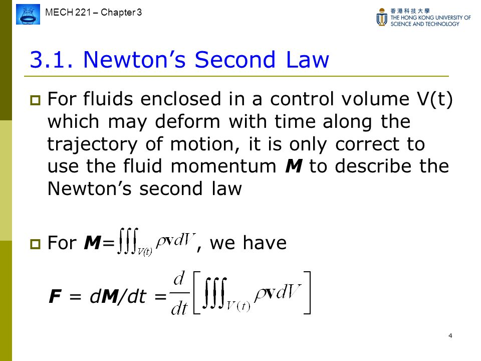 3.1. Newton's Second Law