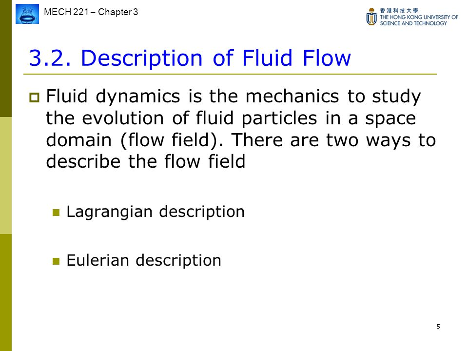3.2. Description of Fluid Flow