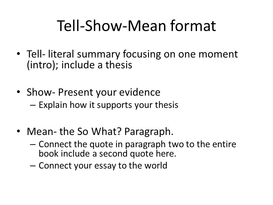How To Write A Thesis Statement For A Essay Tellshowmean Format English Essay Examples also Narrative Essay Sample Papers Tellshowmean Analytical Essay  Ppt Video Online Download High School Personal Statement Sample Essays