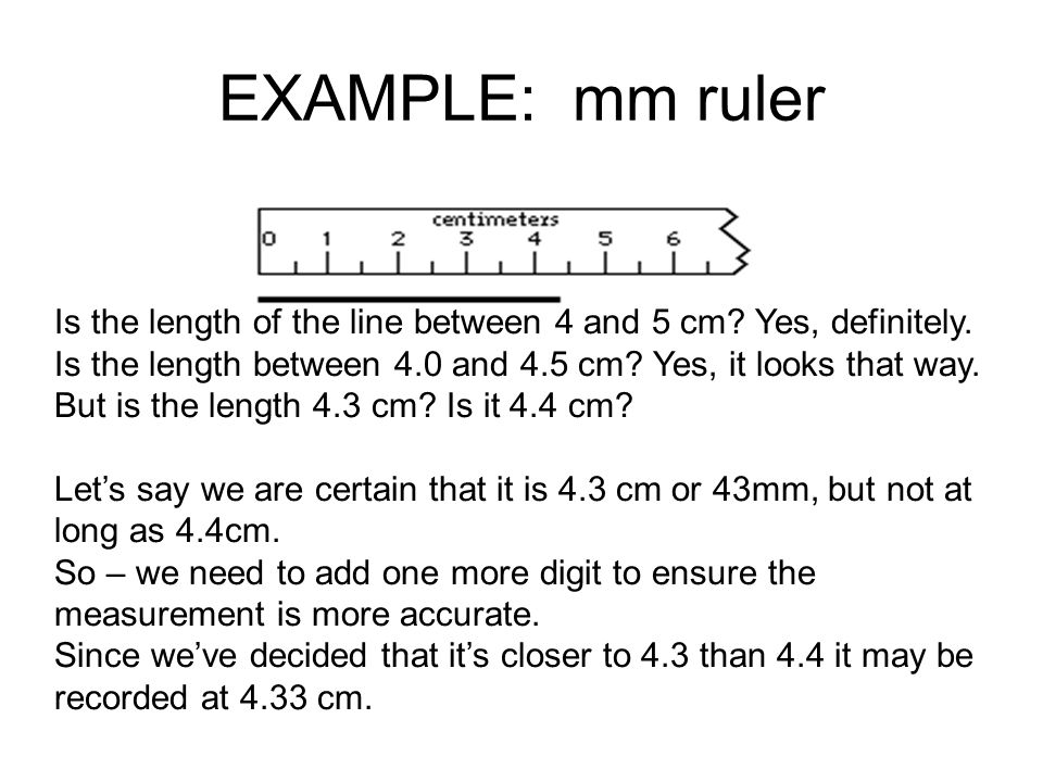 EXAMPLE: mm ruler