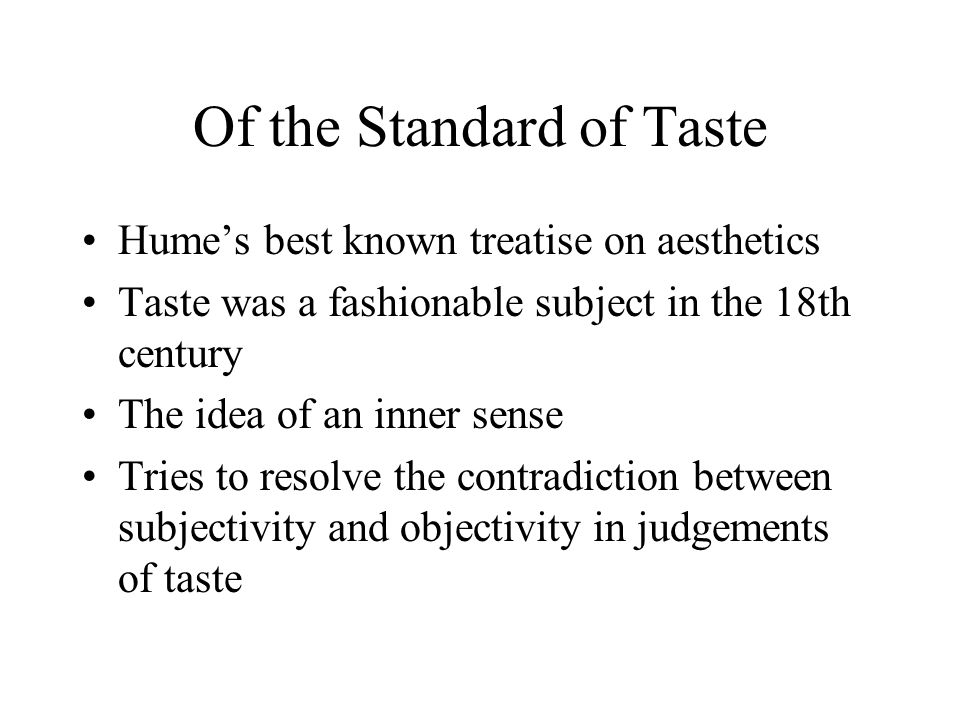 of the standard of taste david hume citation