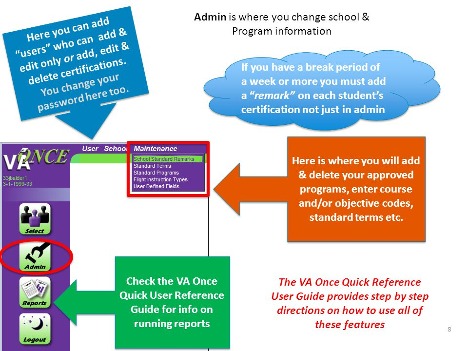 topics tips & hints accessing va once & the va once quick reference ...