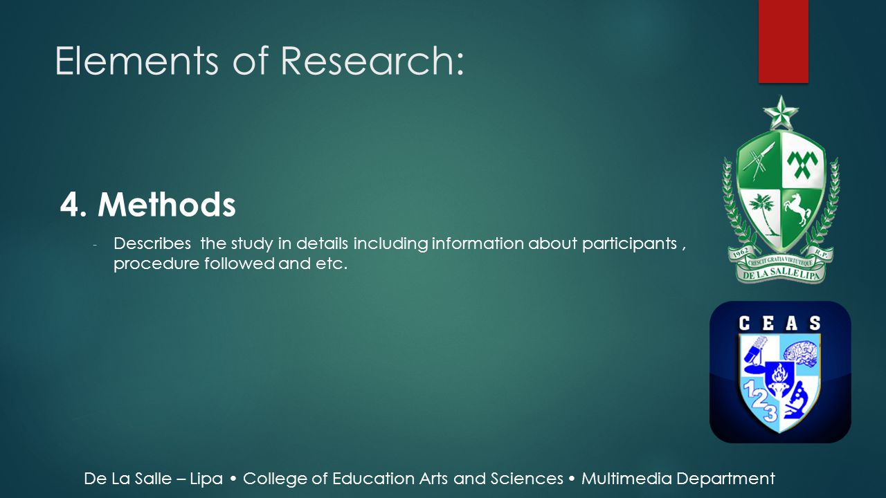 Elements of Research: 4. Methods