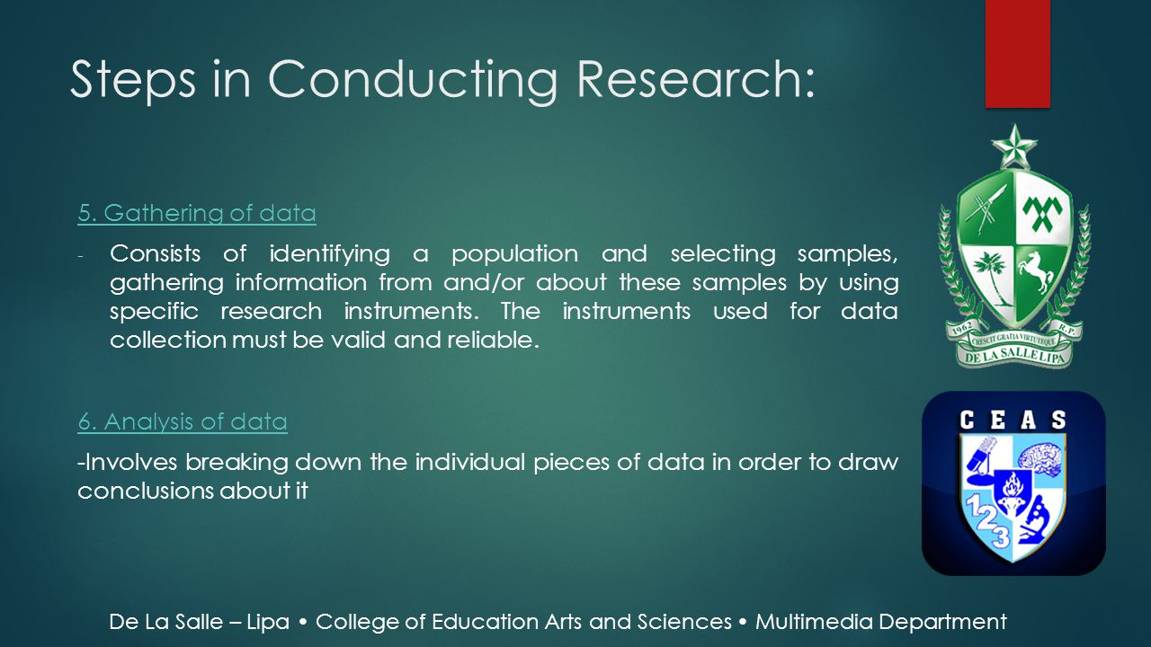 Steps in Conducting Research: