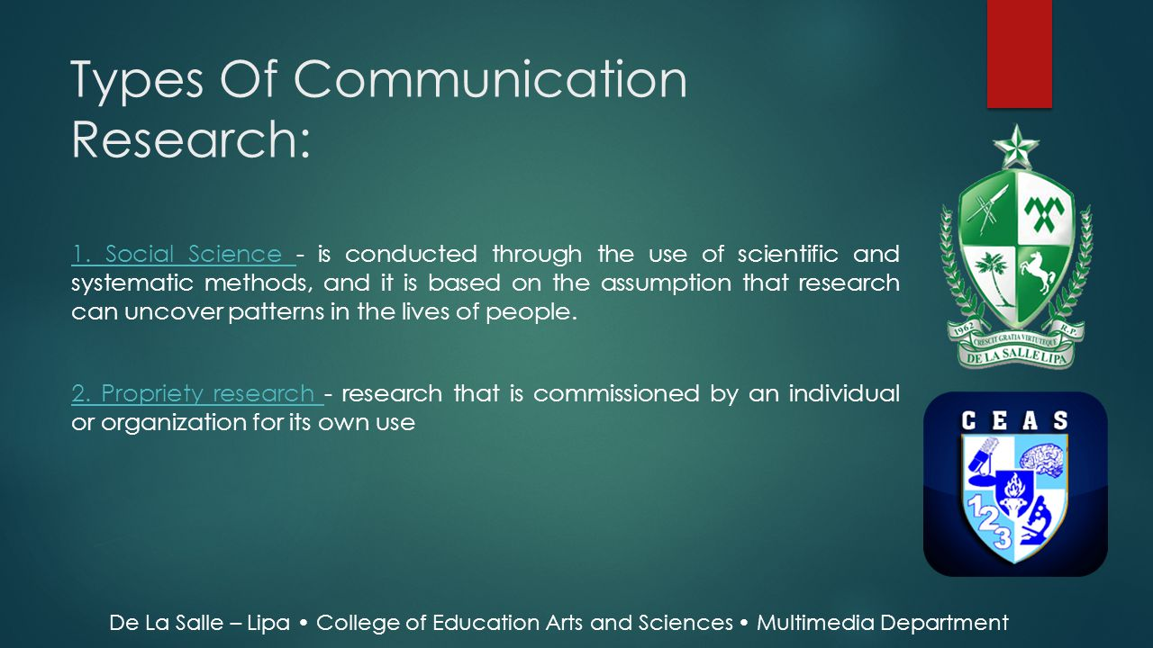 Types Of Communication Research: