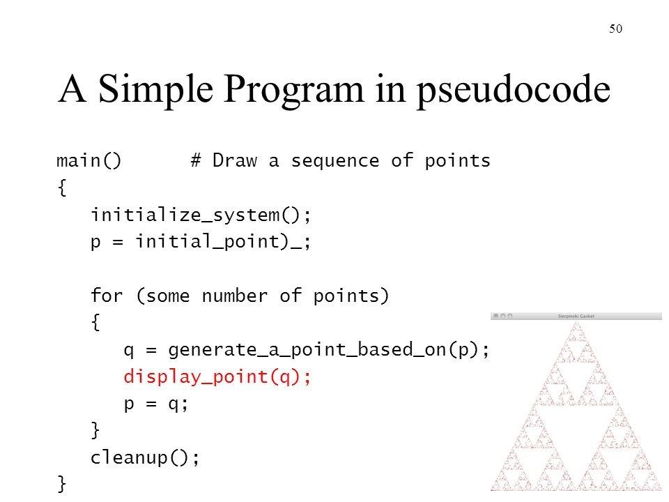 A Simple Program in pseudocode