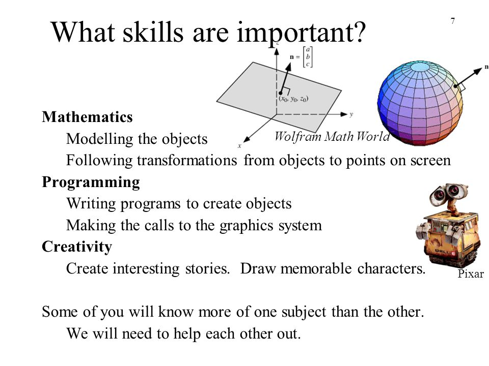 What skills are important