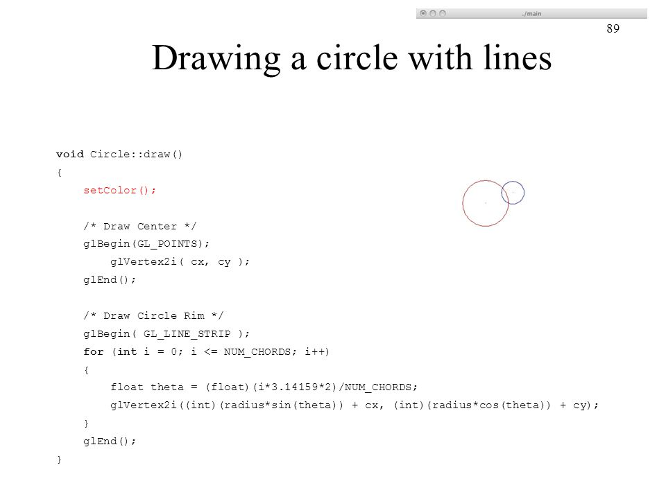 Drawing a circle with lines