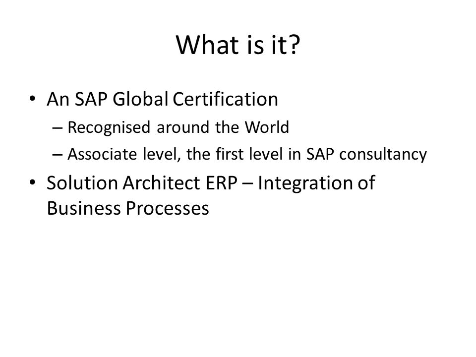 Sap Certification Terp Ppt Video Online Download